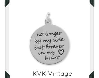 """Oxidized """"Forever in My Heart"""" Charm"""