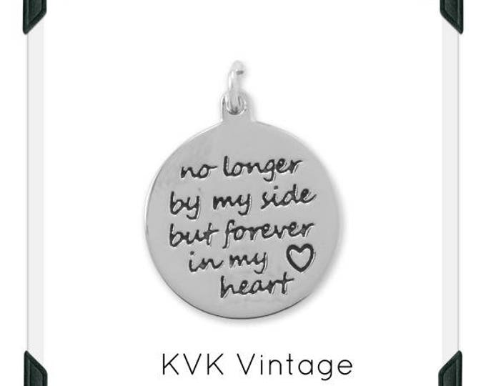 """Oxidized """"Forever in My Heart"""" Charm Necklace"""