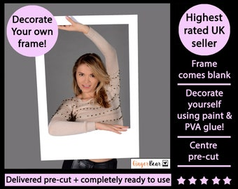 DIY BLANK prop frame! Personalise yourself! Perfect for Weddings, Birthdays, Hen parties and any other event!