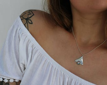 The Tri-Galaxy Necklace - Simple Silver Layering Glitter Charm Pendant