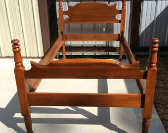 Antique Twin Bed Headboard Footboard And Rails