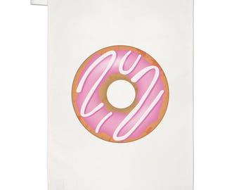 Pink Strawberry Glazed Doughnut Tea Towel Dish Cloth