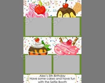 50% off,cute photo booth template,instant download,1st birthday,cupcake birthday,fun 1st birthday idea,kids birthday, cupcake party idea,
