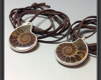 Ammonite pendants/ BFF gift