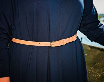 James Natural Leather Belt