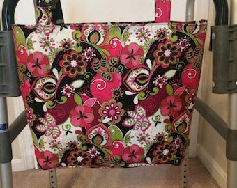 Walker Caddy Bag (swirls of pink)