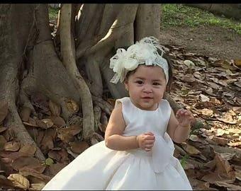 Christening Baby Headband Baptism Hair Bow Flower Band Toddler Infant Newborn Wedding Baby Girl Hairbows