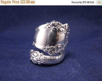 "ON SALE 20% DISCOUNT Silver Spoon Ring 1897 ""Berkshire"" Antique Silver Spoon Jewelry size 8"