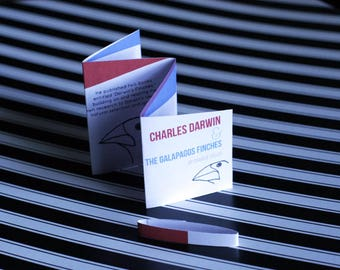 Charles Darwin & The Galapagos Finches - Mini Educational Story Book Zine