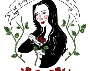 Morticia Addams Mini Print