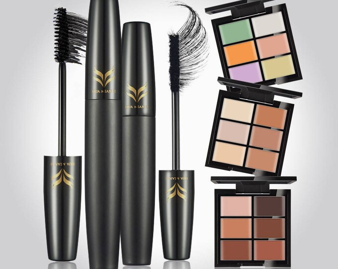 Makeup Concealer/Foundation and 3D Volume Mascara Set