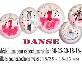 Images digital digital pink tutu dancer dancing jewelry glass cabochons