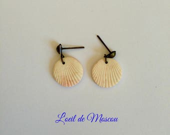 "cream earrings ""back from Thailand"""
