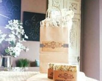 Chamomile Lavender Soap, Handmade soap, all natural soap, vegan, rustic