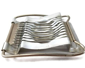 Egg Slicer Vintage Kitchen Aluminum Utensil Gadget