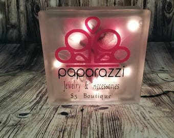 Paparazzi Glass Block with lights