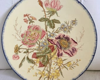 Antique french Provence floral plate