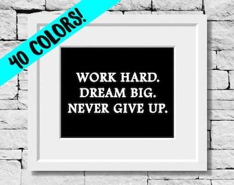 Dream Quote, Dream Print, Dream Typography, Dream Decor, Motivational Quotes, Inspirational Quotes, Dreamer Quotes, Success Quotes, Dream