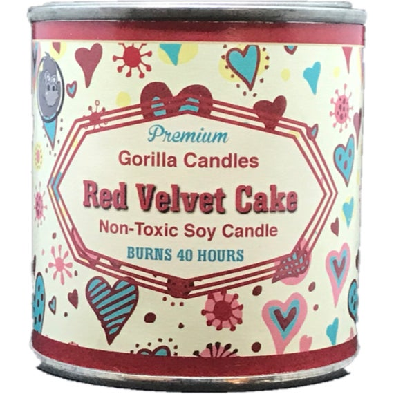 Red Velvet Cake Scented Soy Candle