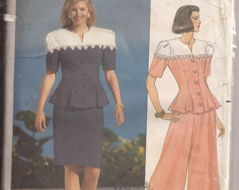 Butterick 5406 Misses Dress by Leslie Fay, Size 12-14-16, Vintage 1991