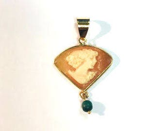 Small Antique Shell Cameo Pendant