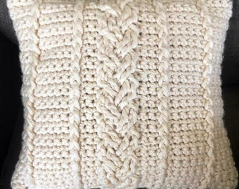 Farmhouse Cabled Pillow Cover