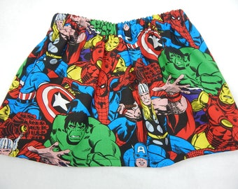 Avengers girls skirt----skirts for babies, toddlers and girls----precious for a birthday party