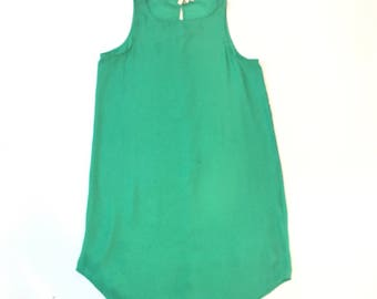 Vintage Kelley Green Silky Dress
