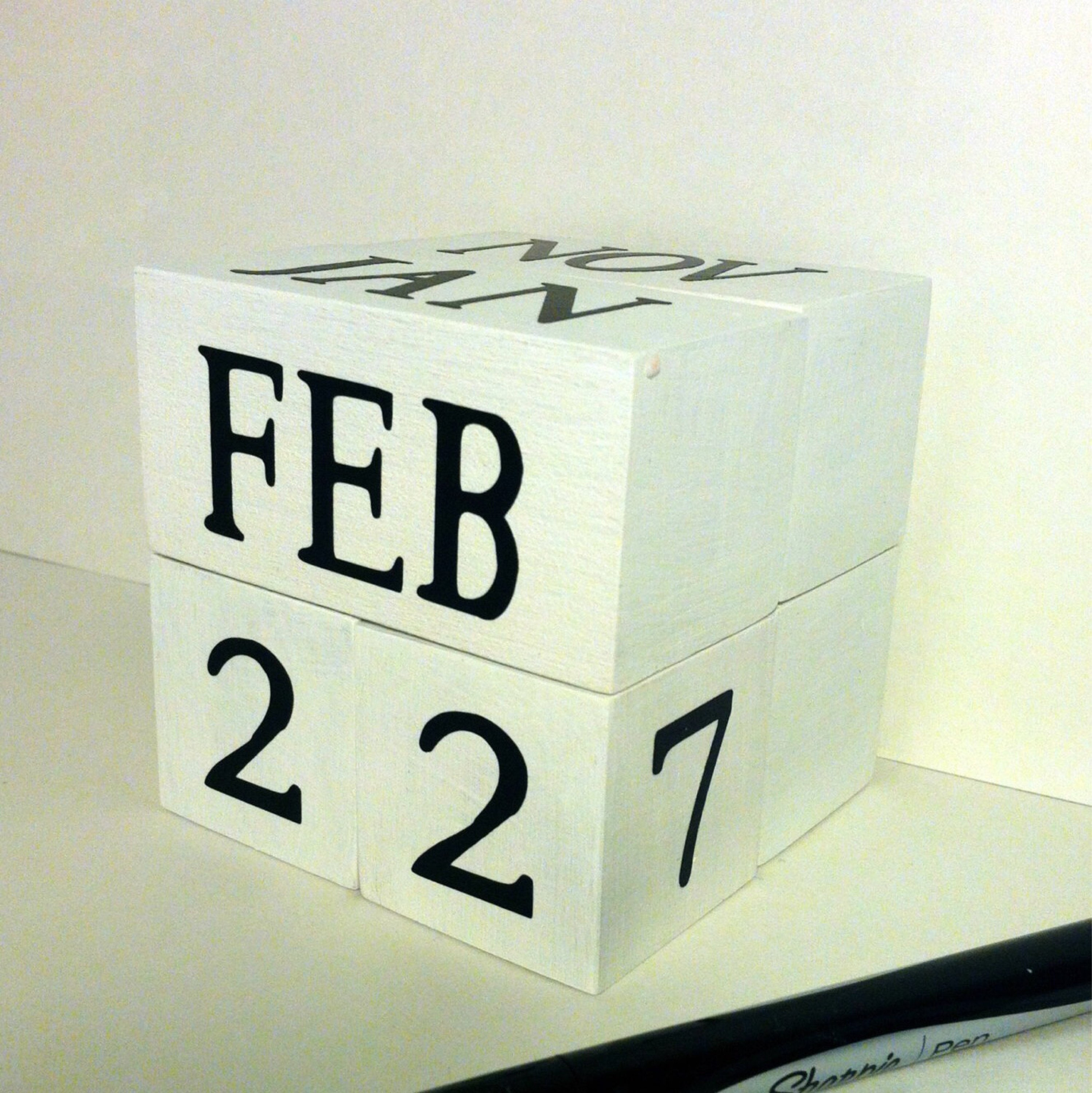 Perpetual Wooden Calendar/ Unique TEACHER Or OFFICE Gift / Cottage Chic  Decorative Decor For Cubicle