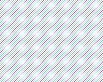 Polka Dot Stripes  Patterned Printed Vinyl - HTV or Permanent Glossy or Permanent Matte