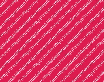 Hand drawn Loopy Lines Red - HTV or Permanent Glossy Vinyl or Permanent Matte Vinyl