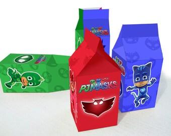 PJ Mask 3 Favor Box - Digital