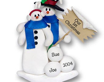 Snowman Personalized Family Ornament