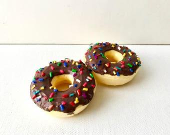 Chocolate Donut Squishy Kawaii squishy Slow Rising squishy food phone charm keychain