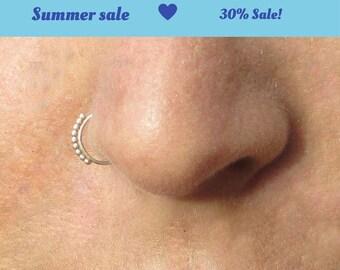 Thin nose ring, Nose Hoop, nostril ring, nose hoop, nose jewelry, Nose ring, Tribal Nose Ring, Silver nose hoop, Indian nose ring, septum