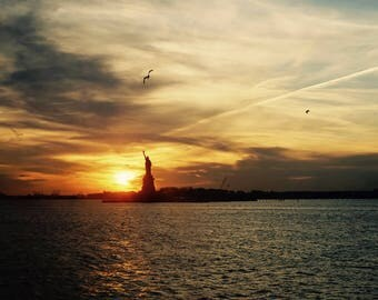 Statue of Liberty, Fine Art Photography Print, New York City, Liberty Island, Sunset art, NYC print, New York wall art, 8x10, 8x12, 11x14