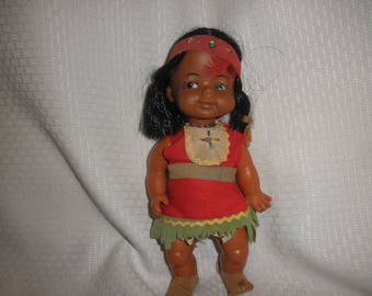 Native American Indian Little Girl Doll 1960