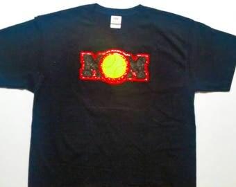 Custom Embroidered Softball Mom Shirt - Softball Shirts - Mom Softball Shirt - Softball Mom Gift - Softball Team Shirts - Softball Gifts
