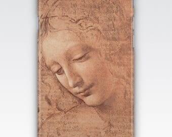 Case for iPhone 8, iPhone 6s,  iPhone 6 Plus,  iPhone 5s,  iPhone SE,  iPhone 5c,  iPhone 7  - Head of a Young Woman by Leonardo Da Vinci