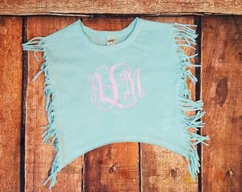 Fringe Shirt with saying or monogram