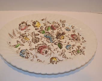 "Vintage 1960's Johnson Brothers ""Staffordshire Bouquet"" 14"" Oval Platter."