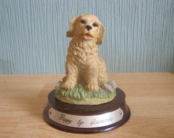 Puppy Figure on wooden plinth by Leonardo