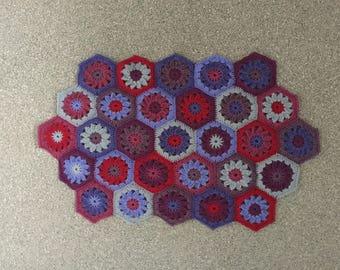Crochet Bath Mat Silver Berry