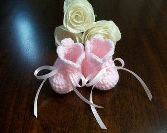 Pink Crochet Baby Boots, Pink Baby Shoes, Pink Crib Shoes, Pink Crib Booties, Pink Crochet Baby Boots, Pink Crochet Baby Shoes