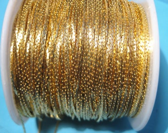 10 ft Gold Plated Brass Beading Chain Tassel Chain
