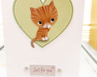 Ginger Tom Just For You Card