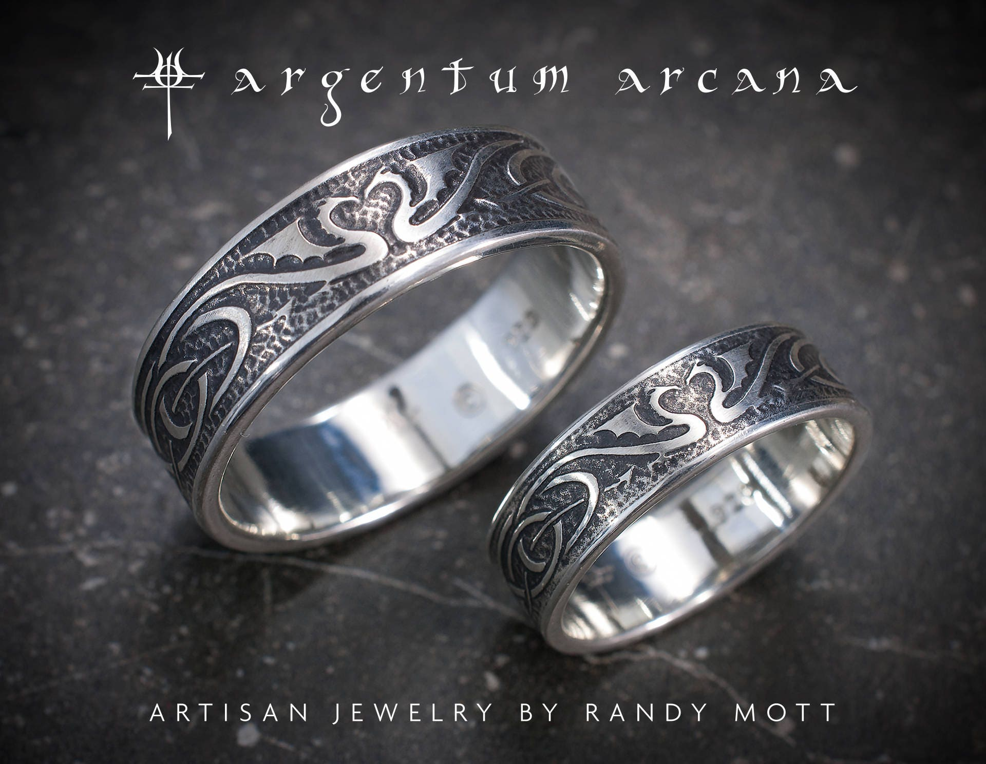 dragon wedding ring wedding ring set silver celtic wedding bands unique 3678