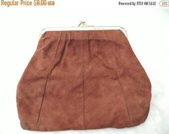 SUMMER SALE Vintage small brown purse