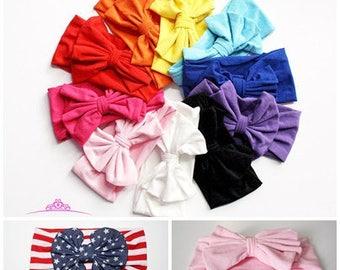 toddler headband - Baby headband - Baby Girl headband - baby headwrap  - Baby Turban - Messy Bow Headband - baby girl gift