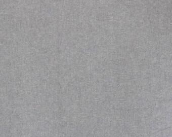 Fabric - Robert Kaufman - Essex Yarn dyed linen/cotton - Steel - medium weight woven.